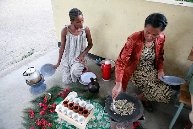 مراسم قهوه اتیوپیایی