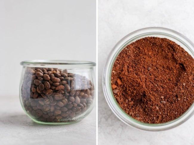 اندازه پودر قهوه فرانسه